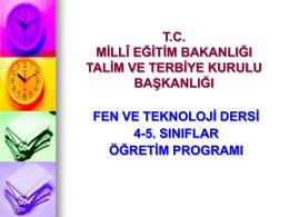 Fen ve Teknoloji Dersi Öğretim Programının
