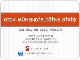 Gıda Mühendisliği - Hitit Üniversitesi