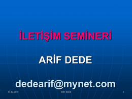İLETİŞİM Mehmet ŞAHİN