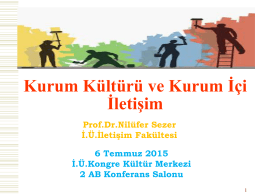 """6 Temmuz 2015 Tarihinde Düzenlenen """"Kurum"""