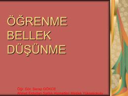 Öğrenme Bellek Düşünme - Ahmet Erdoğan Sağlık Hizmetleri