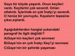 5.sınıf türkçe paragraf okuma anlama çalışma sunusu