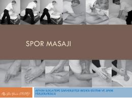 SPOR MASAJI - Afyon Kocatepe Üniversitesi