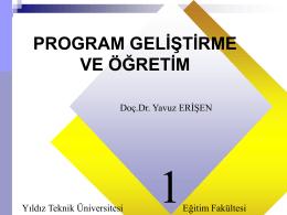 program gelıstırme - Doç. Dr. Yavuz ERİŞEN