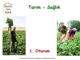 I. Sunum - Mevsimlik Tarım İşçileri