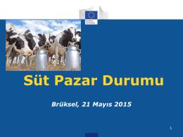 AB Süt Pazar Durumu 21 Mayıs 2015