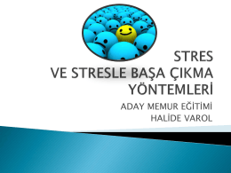 STRES YÖNETİMİ