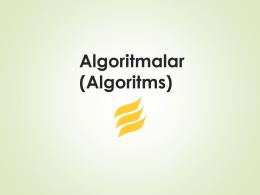 Algoritmalar - enverbagci.net