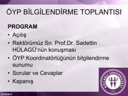 öyp - Kocaeli Üniversitesi