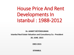 House Price And Rent Developments In Istanbul