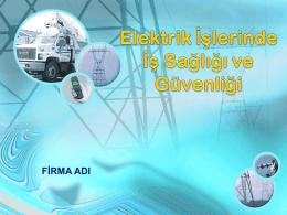 Elektrik İşlerinde İş Sağlığı Ve Güvenliği