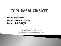 Toplumsal Cinsiyet ve Sağlık - Adnan Menderes Üniversitesi
