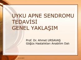 AHİ - Prof. Dr. Ahmet URSAVAŞ