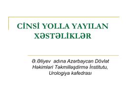 Müalicə - Ə.Əliyev adına Azərbaycan Dövlət Həkimləri