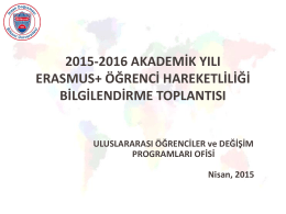 Uluslararası Öğrenciler ve Değişim Programları