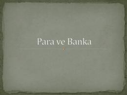 MYO-Para ve Banka Dersi