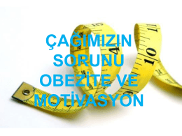 obezite ve motivasyon