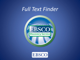 Full Text Finder Feature Overview