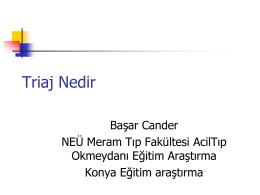 triaj nedir-dr. b. cander
