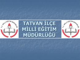 MEİSTE YAPILACAK İŞLEMLER - Tatvan İlçe Milli Eğitim Müdürlüğü