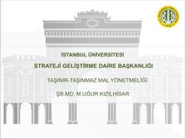"""6 Nisan 2015 Tarihinde Düzenlenen """"Taşınır ve Taşınmaz Mal"""