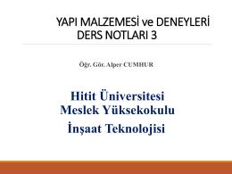 W 1 - Hitit Üniversitesi
