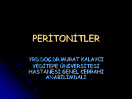 PERİTONİTLER - WordPress.com
