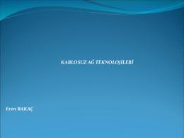 Kablosuz Ağ Teknolojisi