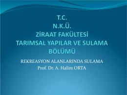 toprak nem tansiyonu - Prof. Dr. A. Halim Orta