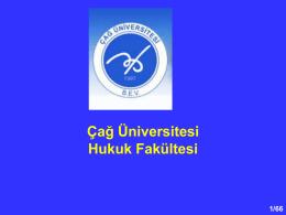 Anayasa Hukuk I_2 - Çağ Üniversitesi