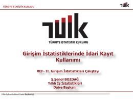 Şehmus Şenol Bozdağ, Türkiye İstatistik Kurumu (TÜİK)
