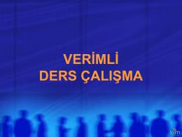 Verimli Ders Çalişma Yöntemleri - İSTANBUL - ÜMRANİYE