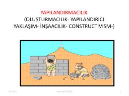 Radikal Yapılandırmacılık