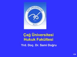 Anayasa Hukuku I - Çağ Üniversitesi