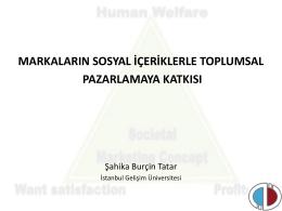 Toplumsal Pazarlama Kavramı