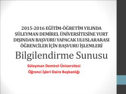 Yardım Sunusu - Süleyman Demirel Üniversitesi