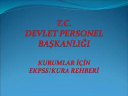Slayt 1 - Başbakanlık Devlet Personel Başkanlığı