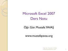 Ders Notu_1 - Öğr.Gör.Mustafa YAVAŞ