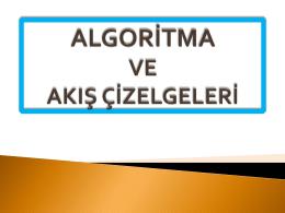 Algoritma Nedir?