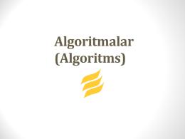 Algoritmalar (1)