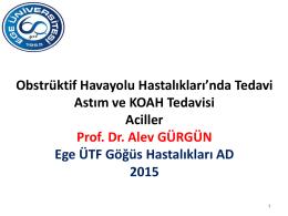 Obstruktif hava yolu hastalıkları ve aciller – Prof. Dr. Alev GÜRGÜN