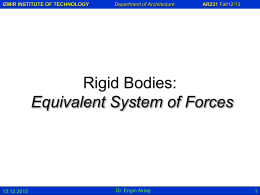 Equivalent System of Forces