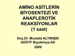 01 Amino asitlerin biyosentezi ve anaplerotik reaksiyonlar