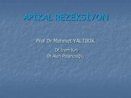 rezeksıyon ders - İstanbul Üniversitesi | Diş Hekimliği Fakültesi