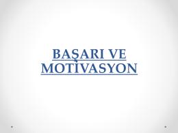 Başarı ve Motivasyon Sunu (Lise)