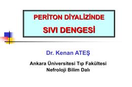 Periton diyalizinde sıvı dengesi