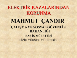 elektrik kazalarından korunma
