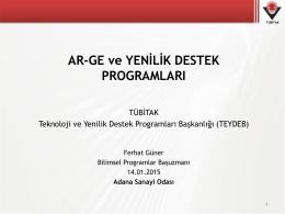 Ar-Ge Proje İstatistikleri