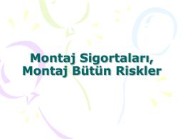 Montaj Sigortaları - Personel Web Sistemi