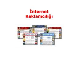 5.hafta - Reklam Ortamları III (İnternet, Pop, Sinema)